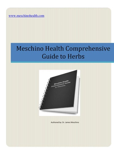 Comprehensive Guide to Herbs by James Meschino - issuu ea878a62dad