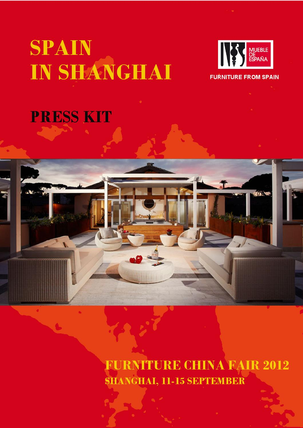 Press Kit Spain At Furniture China 2012 By Furniture From Spain  # Muebles Curvasa
