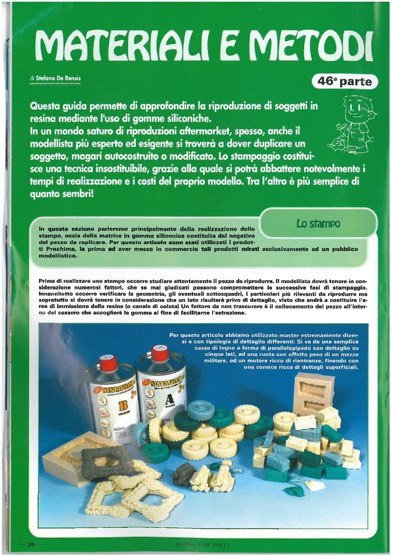 Come costruire stampi in gomma siliconica by prochima issuu for Gomme siliconiche per calchi