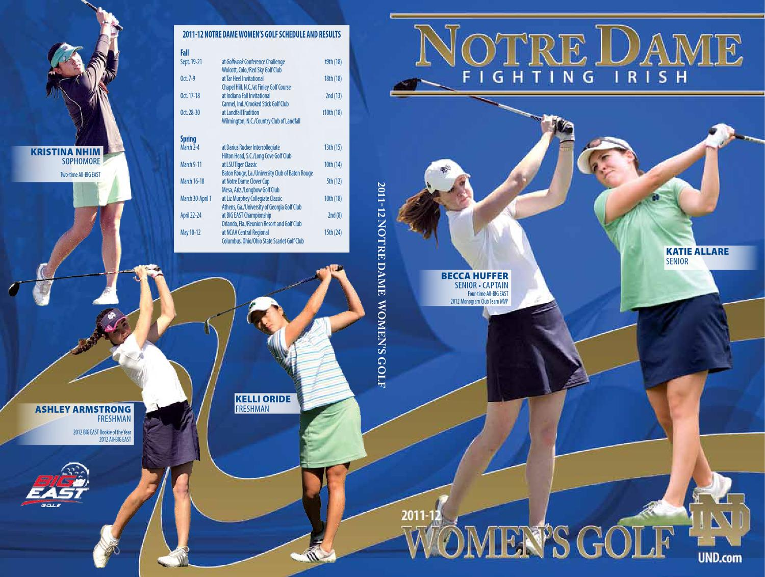 2011 12 university of notre dame women u0027s golf media guide by chris