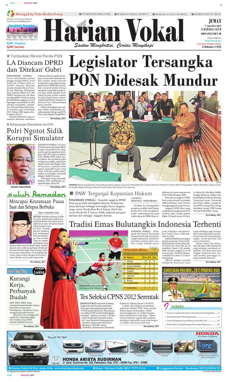 Harian Vokal Edisi 3 Agustus 2012 By Riau Publisher Issuu Produk Ukm Bumn Sajadah Anak Laki