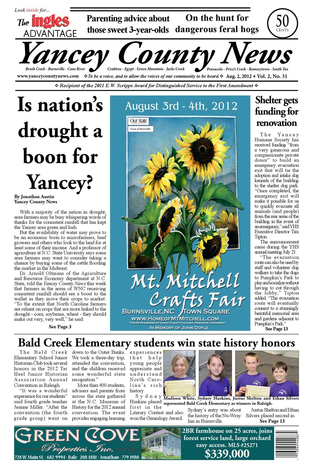 Aug  2, 2012, Yancey County News by Yancey County News - issuu