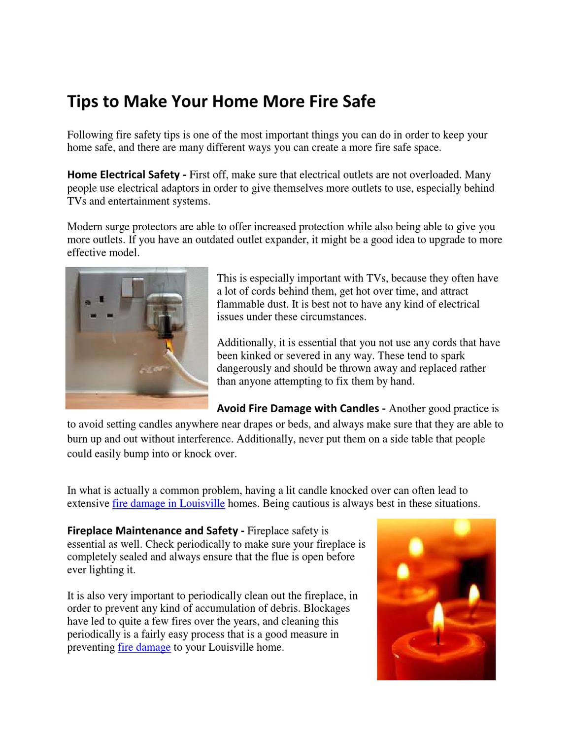 Tips to Make Your Home More Fire Safe by McClain My - issuu