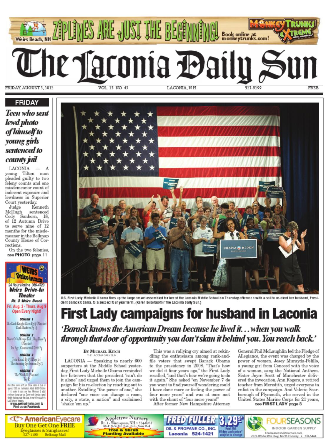 The Laconia Daily Sun, August 3, 2012 by Daily Sun - issuu