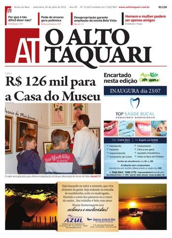 Jornal O Alto Taquari - 20 de julho de 2012 by Jornal O Alto Taquari ... 55d4de2bf3912