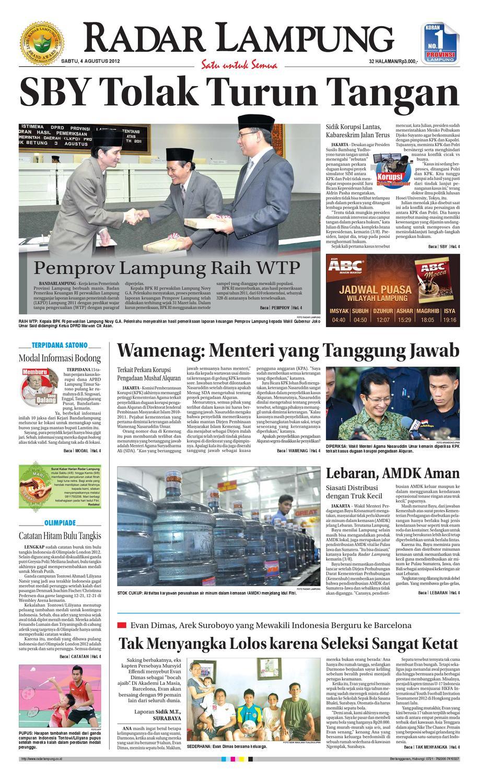 Radar Lampung Sabtu 4 Agustus 2012 By Ayep Kancee Issuu Yuki Springbed Premium Fr 78