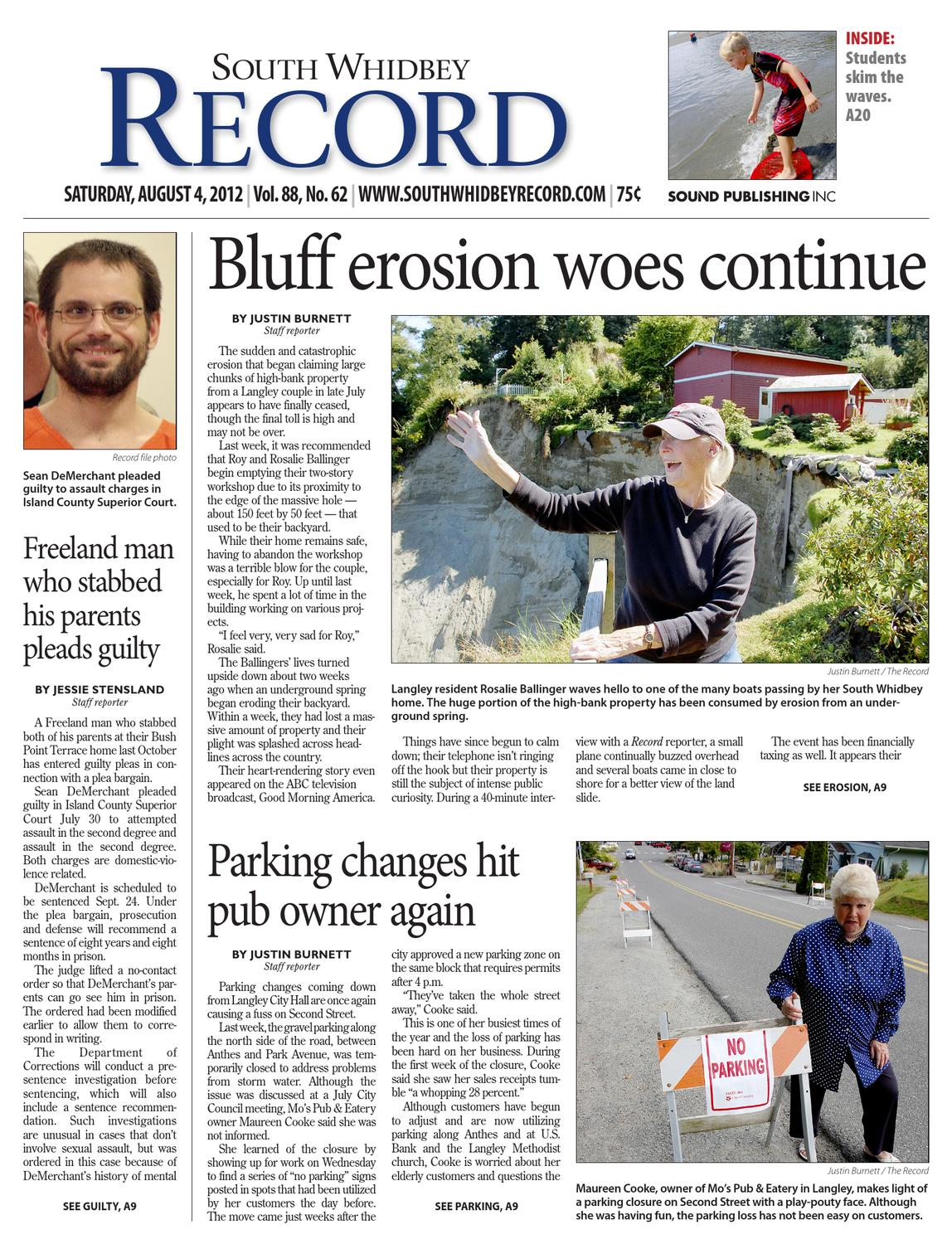 South Whidbey Record, August 04, 2012 by Sound Publishing