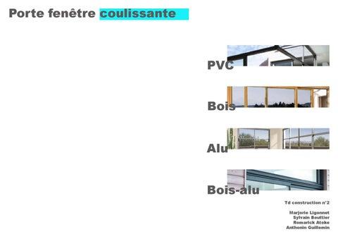 Porte Fenêtre Coulissante Bois Pvc Aluminium Boisalu By Atoke