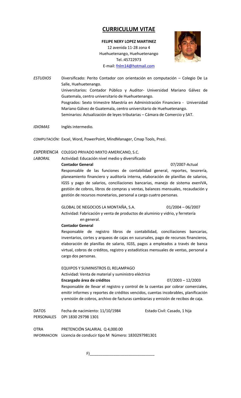 Curriculum Vitae By Felipe Lopez Issuu
