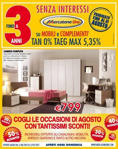 Mercatone Volantino 4 Agosto 2 Settembre 2012 By Catalogopromozioni
