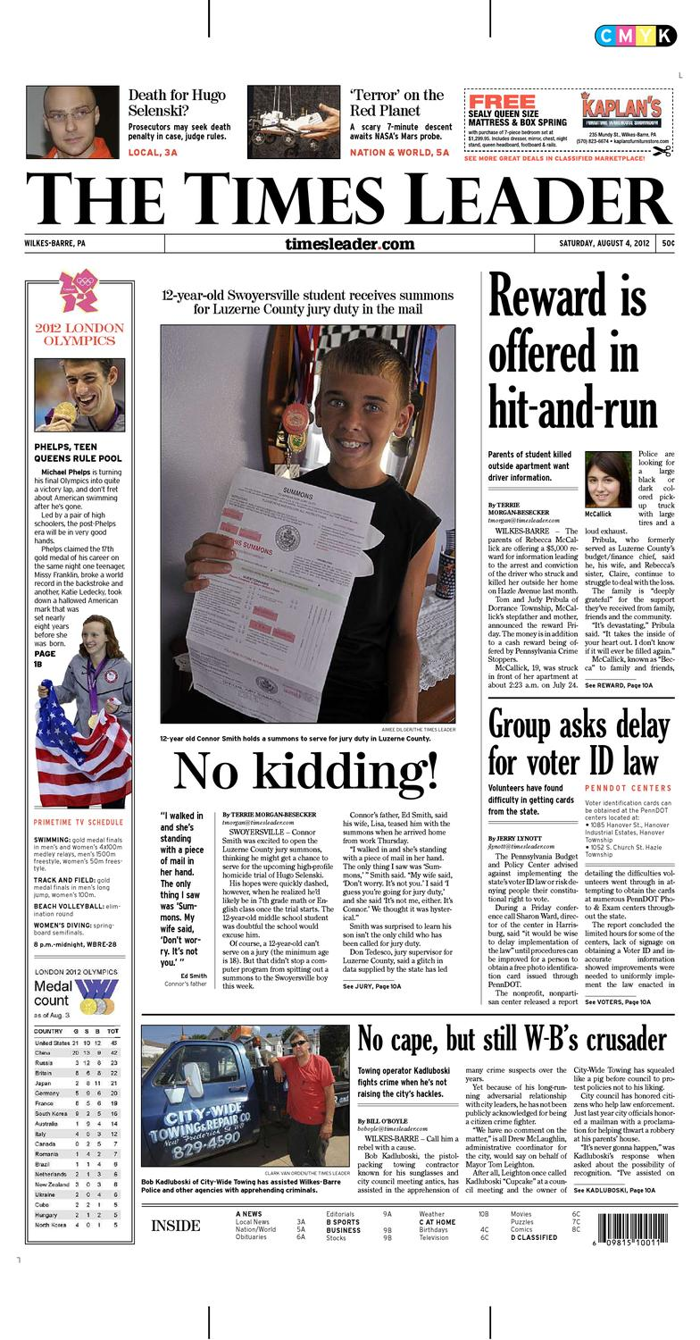 Times Leader 08-04-2012 by The Wilkes-Barre Publishing Company - issuu 5610b4452