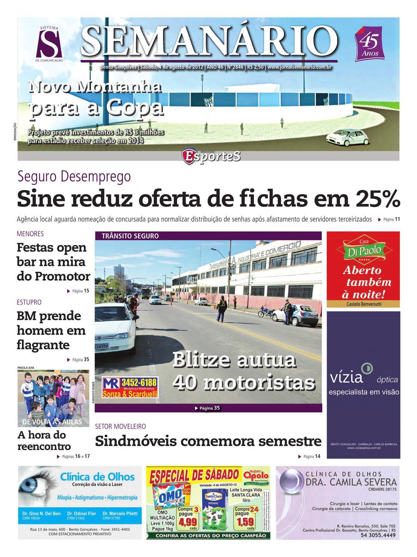 04 08 2012 - Jornal Semanário by Jornal Semanário - Bento Gonçalves - RS -  issuu 22f047a031