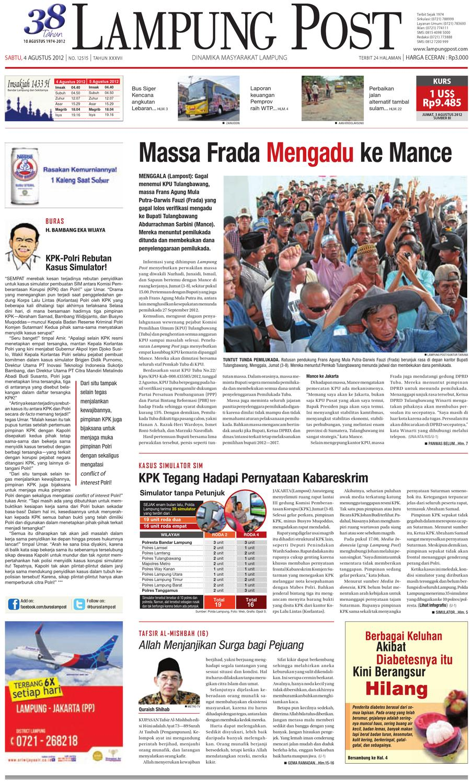 lampungpost edisi 5 agustus 2012 by Lampung Post - issuu