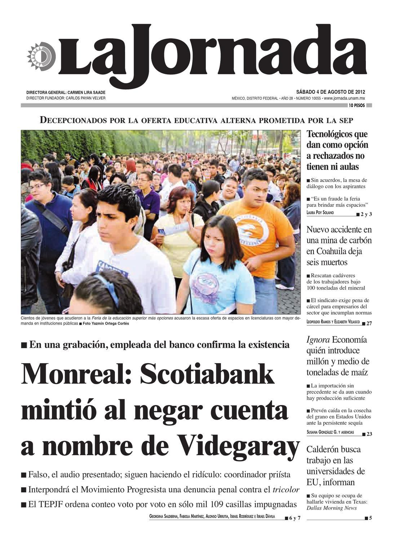 La Jornada, 08/04/2012 by La Jornada: DEMOS Desarrollo de Medios SA ...