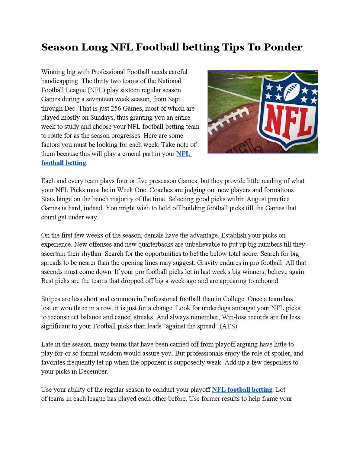 Nfl football betting tips agonlinebetting