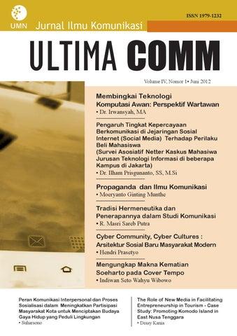 ISSN 1979-1232. Jurnal Ilmu Komunikasi