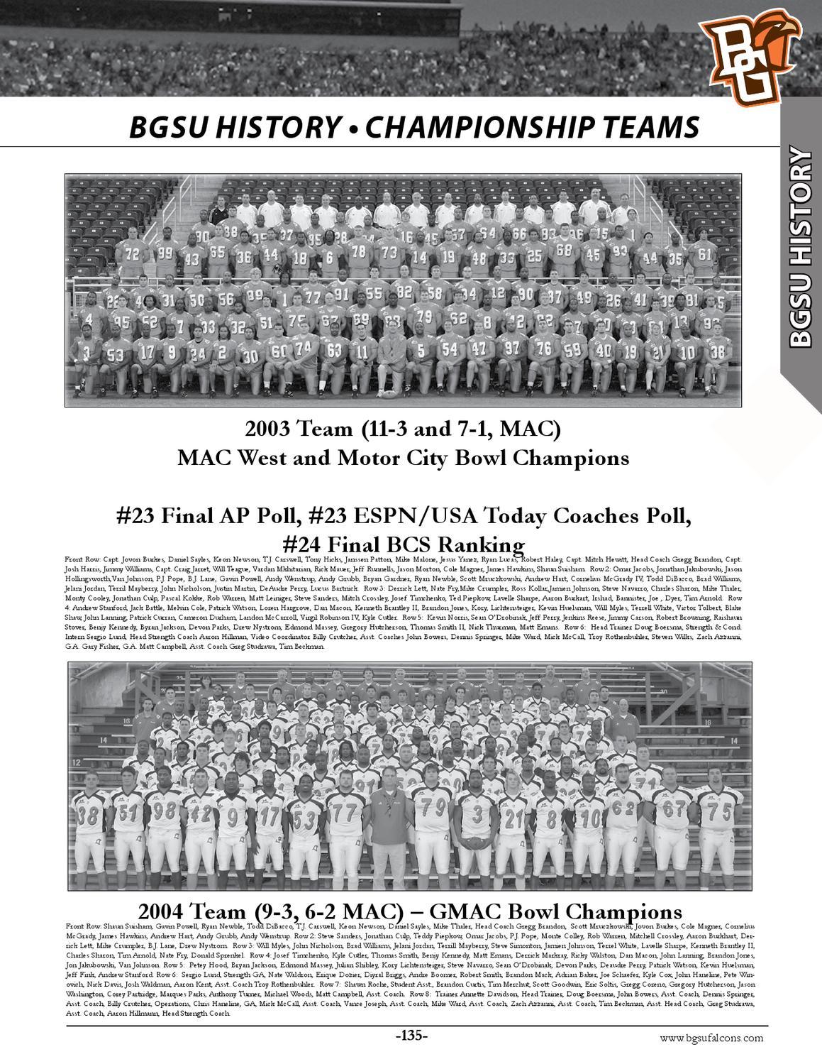 2012 BGSU Football Media Guide by Jason Knavel - issuu