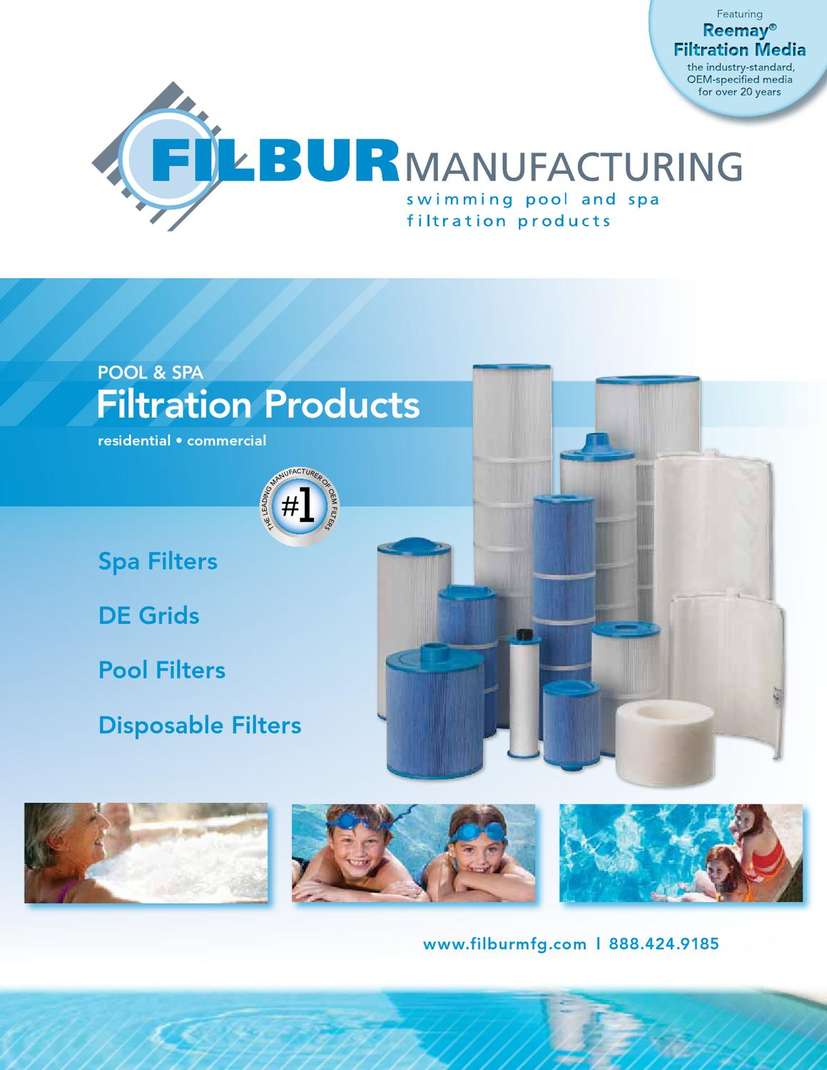 Filbur FC-0800 Antimicrobial Replacement Filter Cartridge for Jandy CL 340 Pool and Spa Filter Filbur Distribution