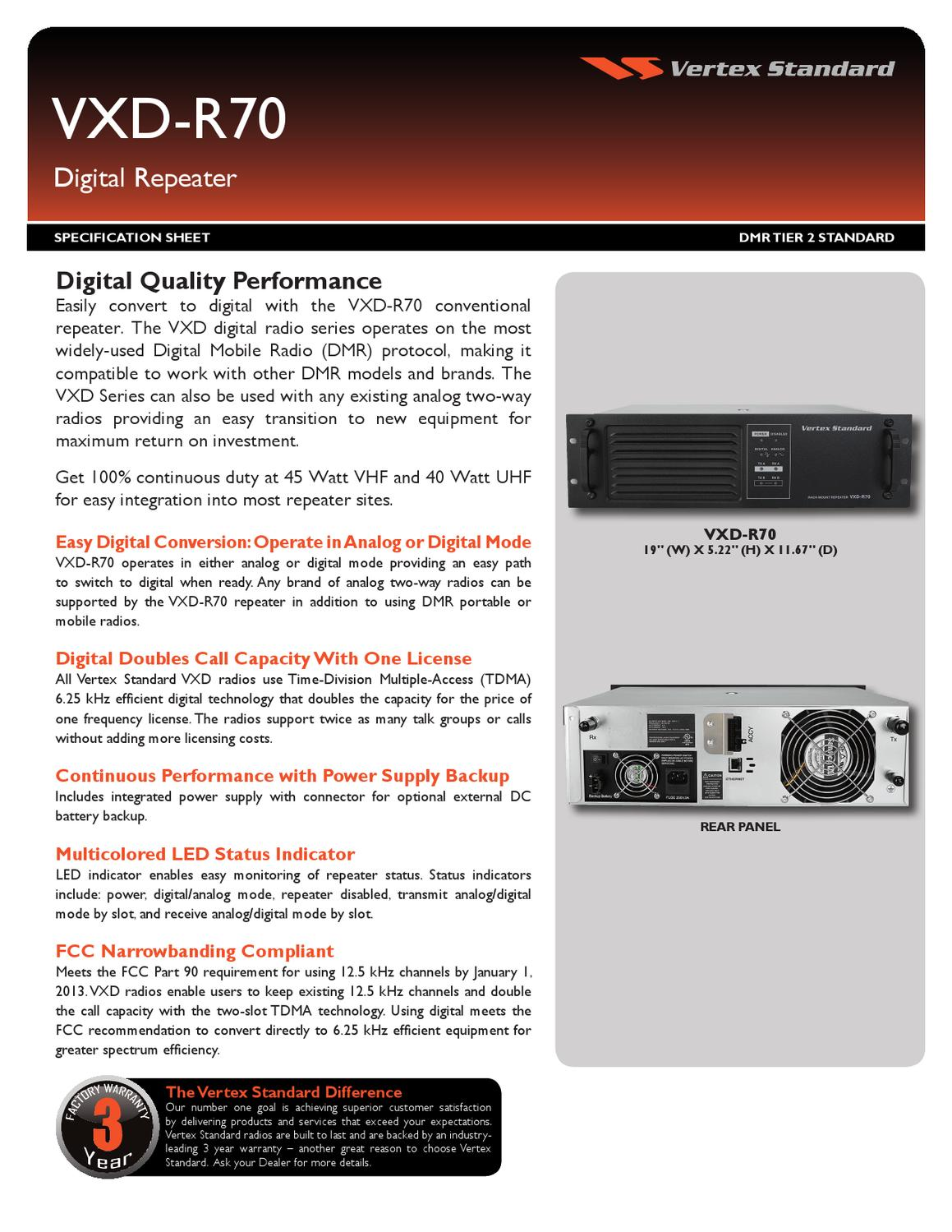Vertex_VXD-R70_SpecSheet_FINAL_0511 by Advantec Distribution - issuu