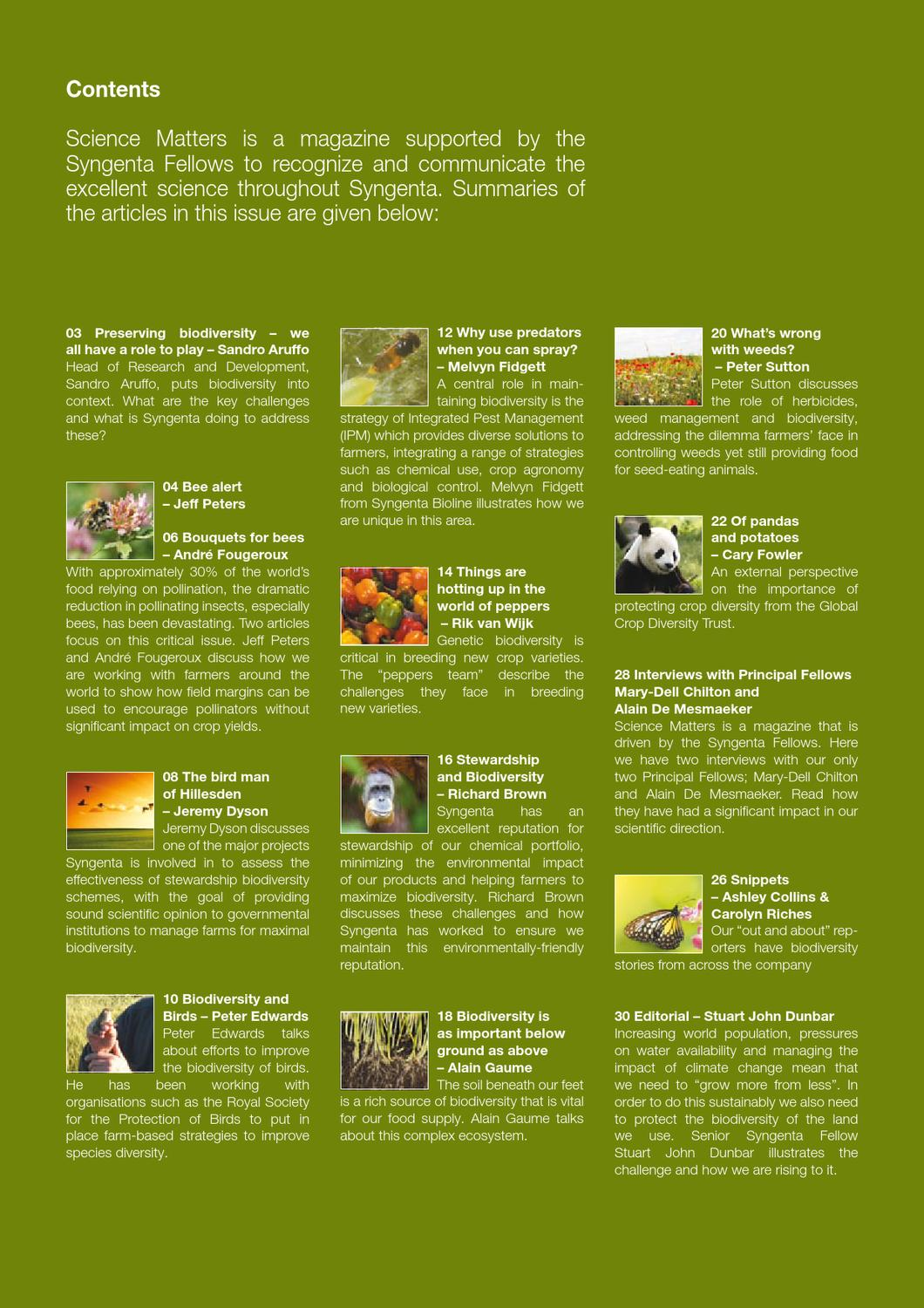 Science Matters : Spring 2010 by Syngenta UK Limited - issuu