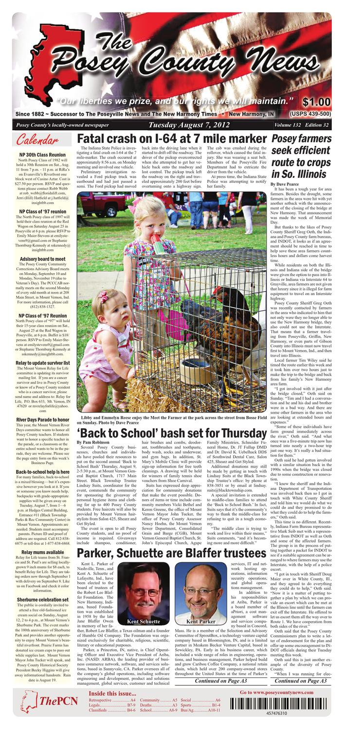 August 7 2012 The Posey County News By The Posey County News Issuu