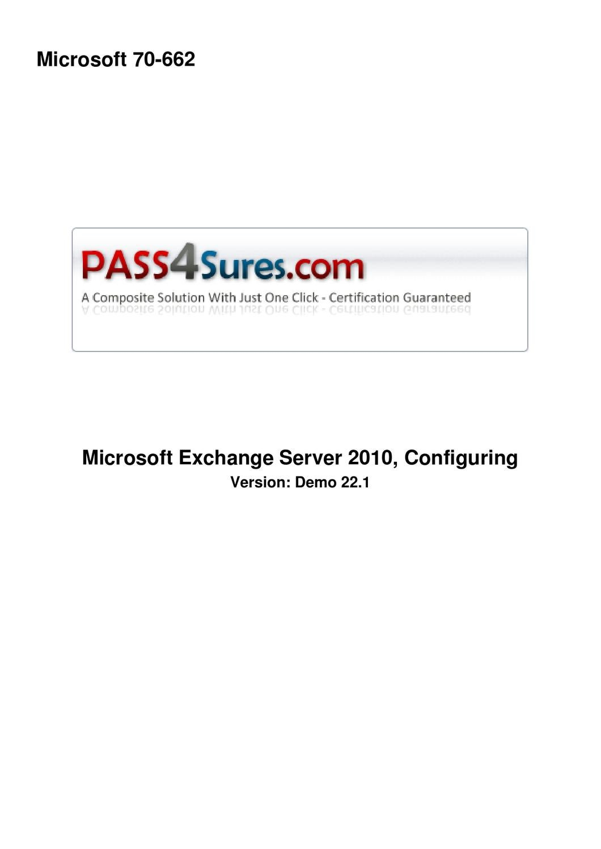 Free Microsoft 70 662 Demo By Zunajean Exams Issuu