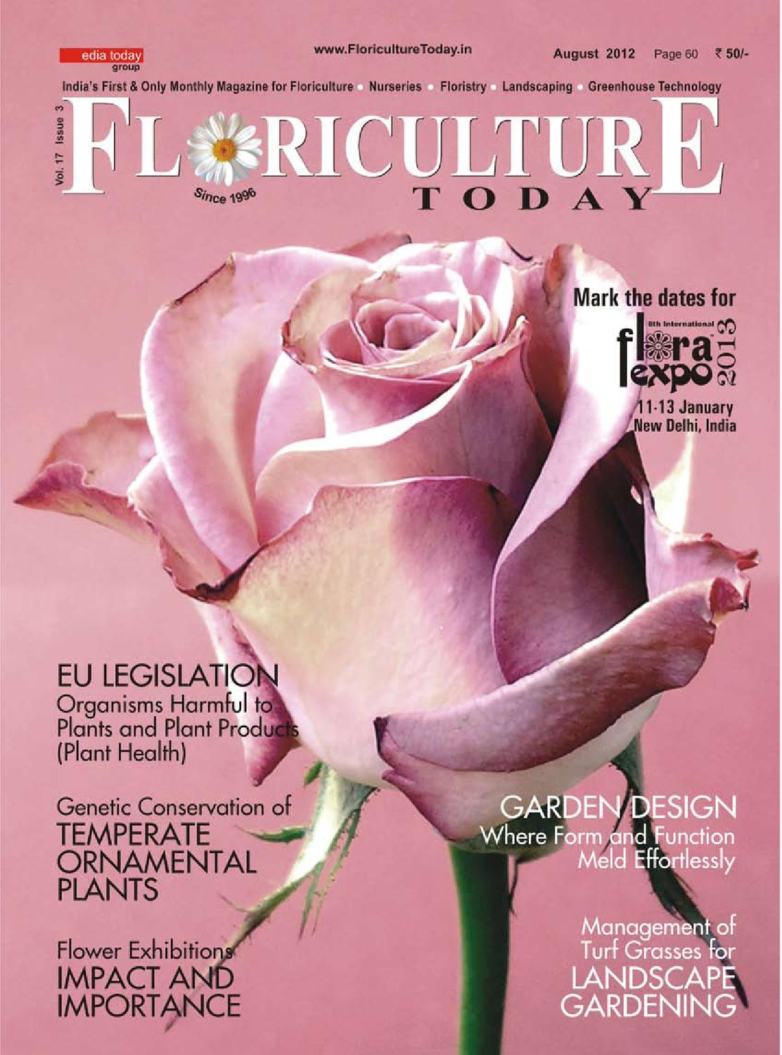 FLORICULTURE TODAY - August 2012 by Media Today Pvt  Ltd