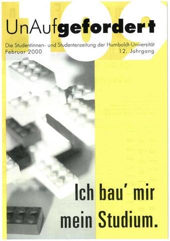UnAufgefordert Nr. 109 by Freundeskreis der UnAufgefordert e. V. - issuu