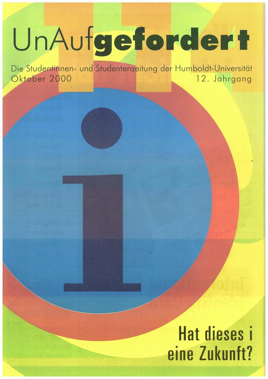 UnAufgefordert Nr. 114 by Freundeskreis der UnAufgefordert e. V. - issuu