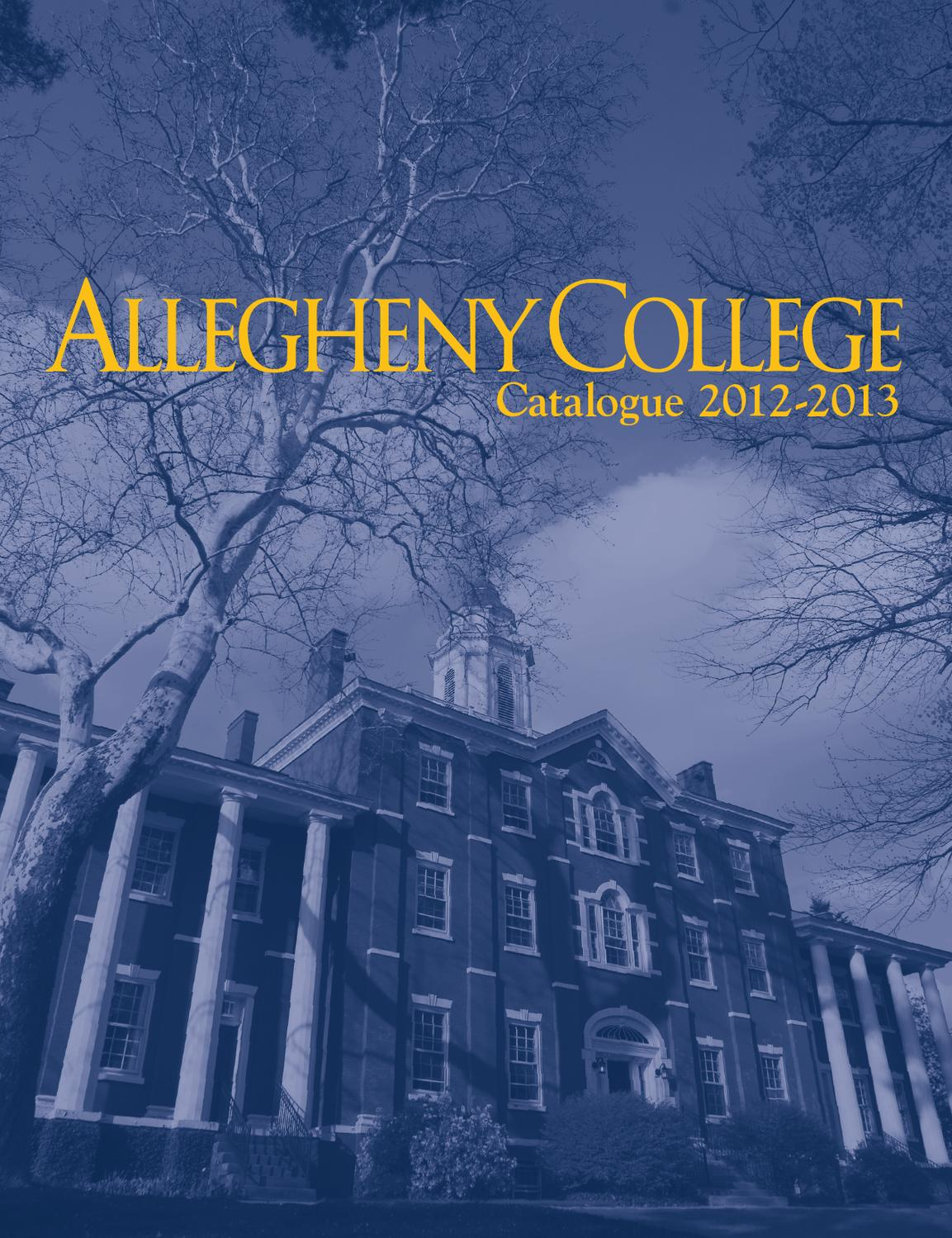 Allegheny College Course Catalogue 2012-2013 by Allegheny