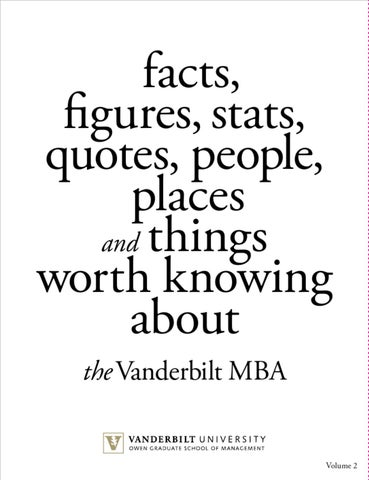 mba facts and stats volume ii by vanderbilt owen graduate school of Best Web Designer Resume page 1