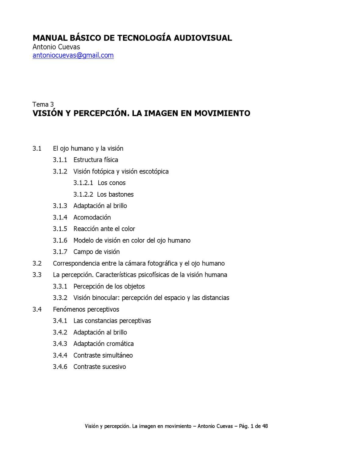 Visión y percepción by Centro Costarricense de Producción ...