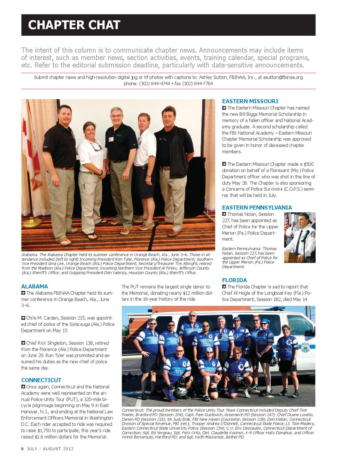 FBI National Academy Associate July/August 2012 by Kelly Bracken - issuu