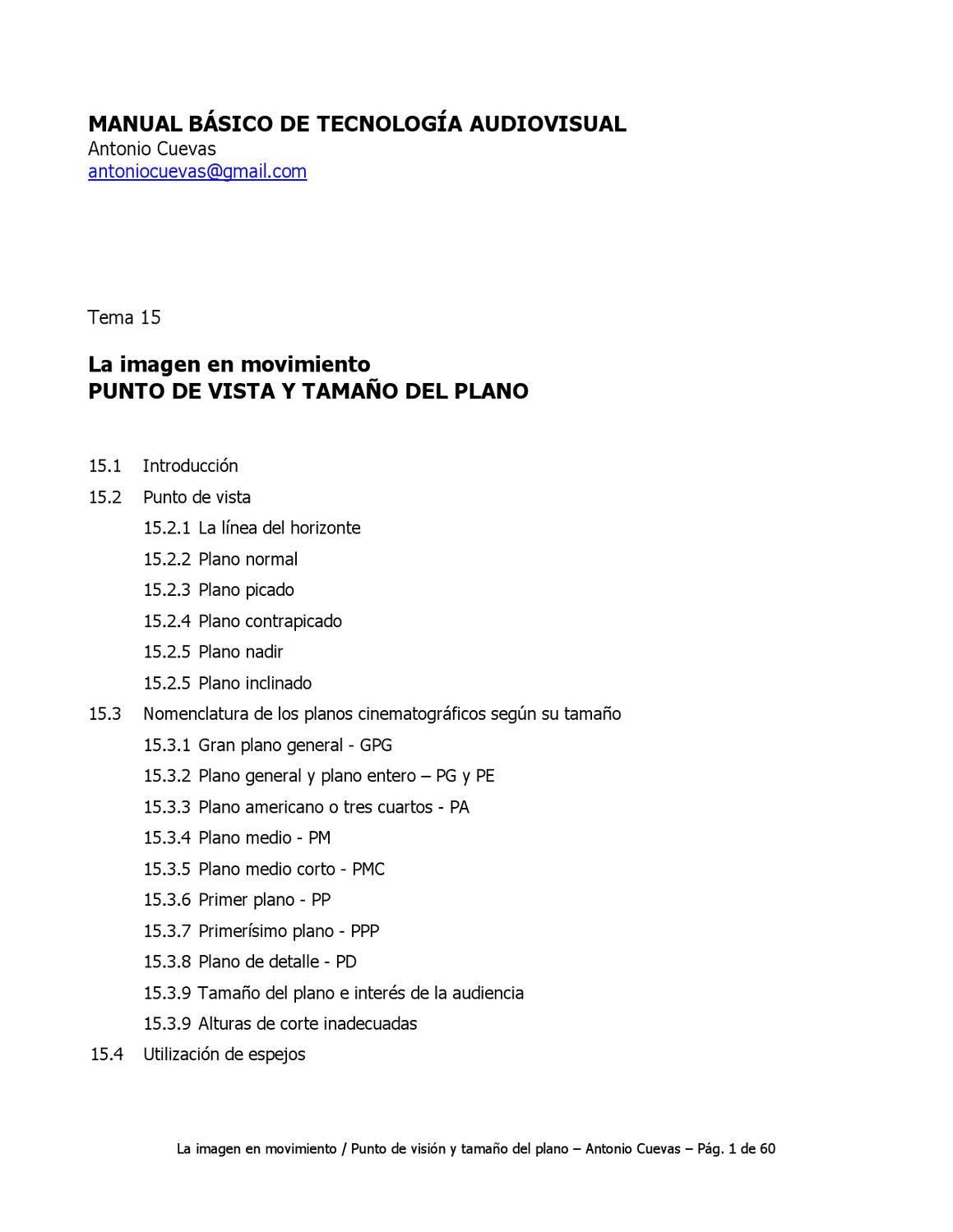 Punto de vista y tamaño del plano by Centro Costarricense de ...