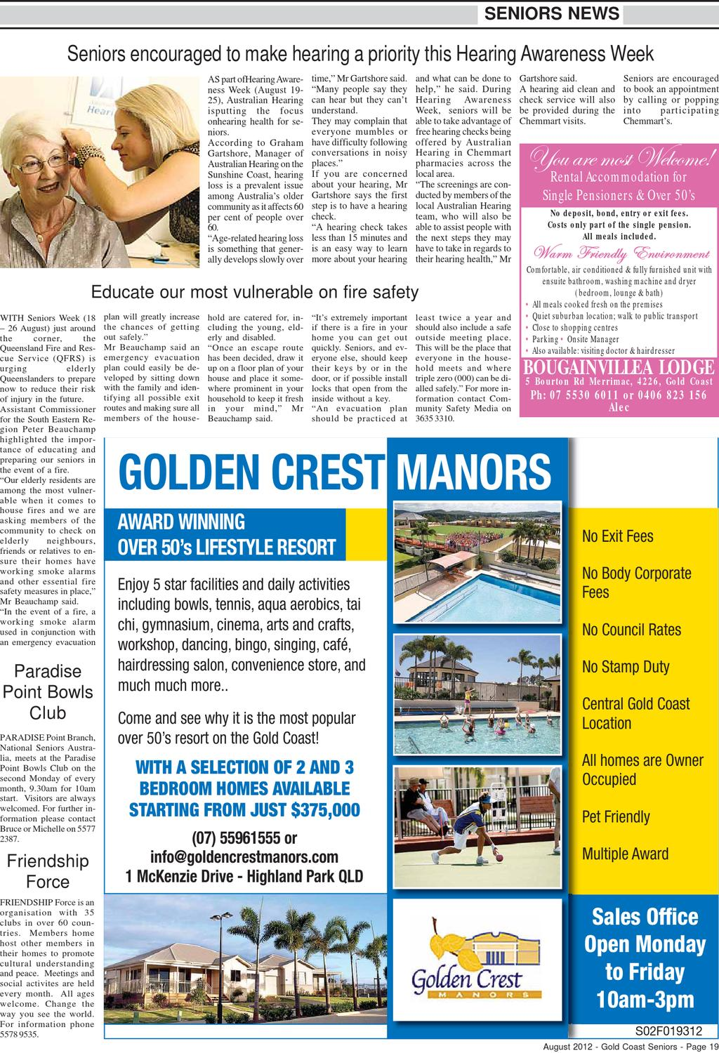 Gold Coast Tweed Seniors Newspaper August 2012 by Seniors