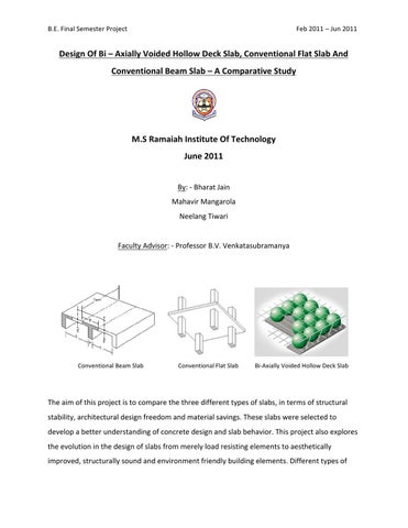Study of Concrete Slabs