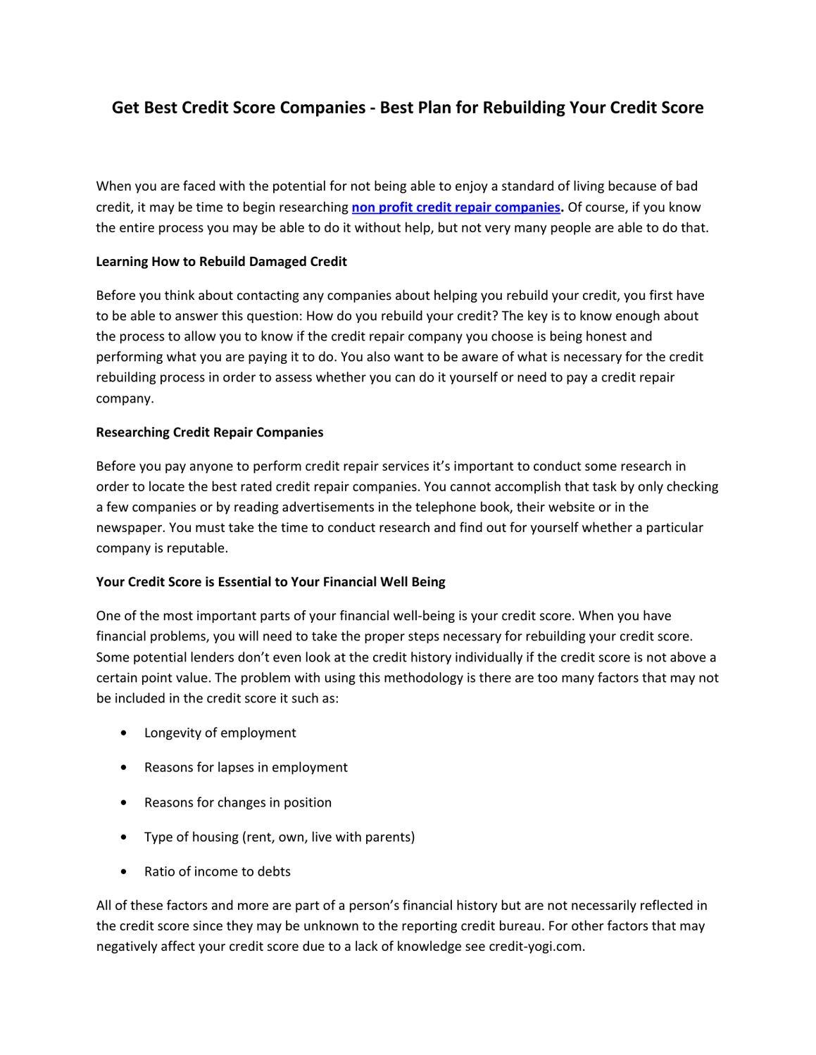 Get best credit score companies best plan for rebuilding your get best credit score companies best plan for rebuilding your credit score by ashley petersen issuu solutioingenieria Gallery