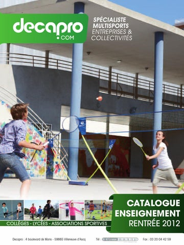 bef88a8044752 Catalogue Decapro Enseignement - Materiel de sport Ecole