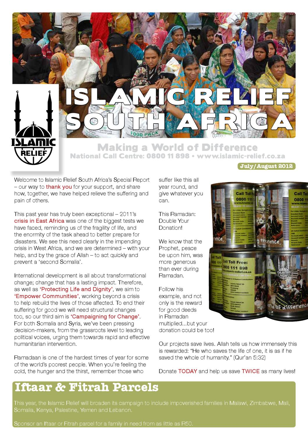 Islamic Relief - South Africa [Ramadaan Newsletter] by Endor