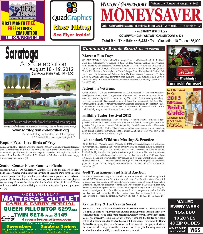 Wilton Gansevoort Moneysaver 080912 by Capital Region Weekly ... b8b1996bcb712