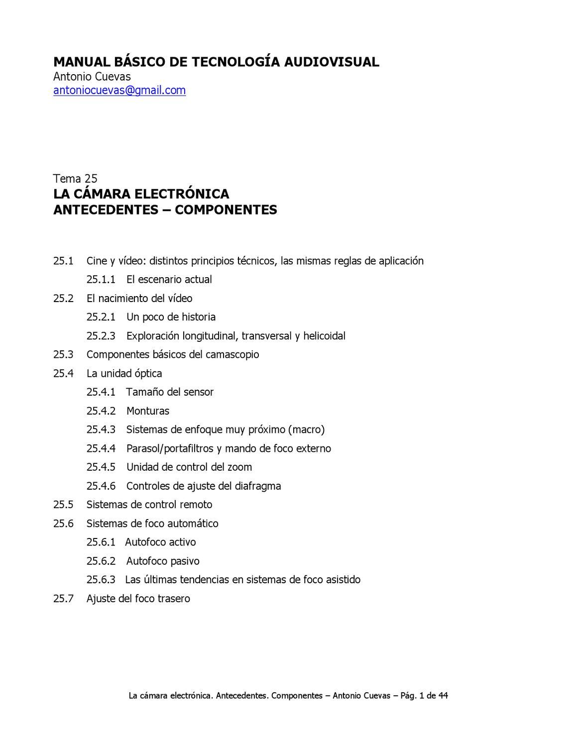 La cámara electrónica. Antecedentes by Centro Costarricense de ...