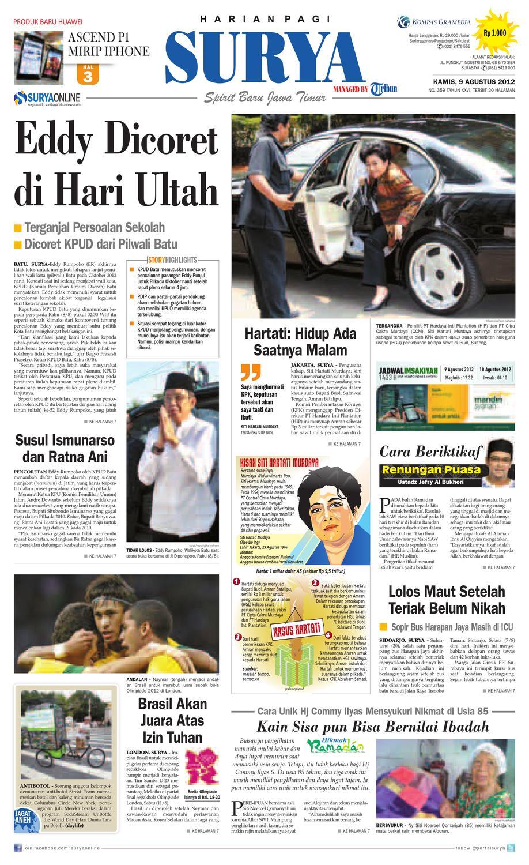E Paper Surya Edisi 09 Agustus 2012 By Harian Issuu Sabun Kecantikan Herbal Tashiru
