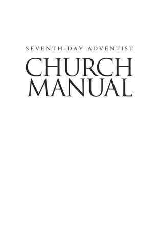 seventh day adventist church manual by mt pisgah communications rh issuu com Adventist Church Adventist Church