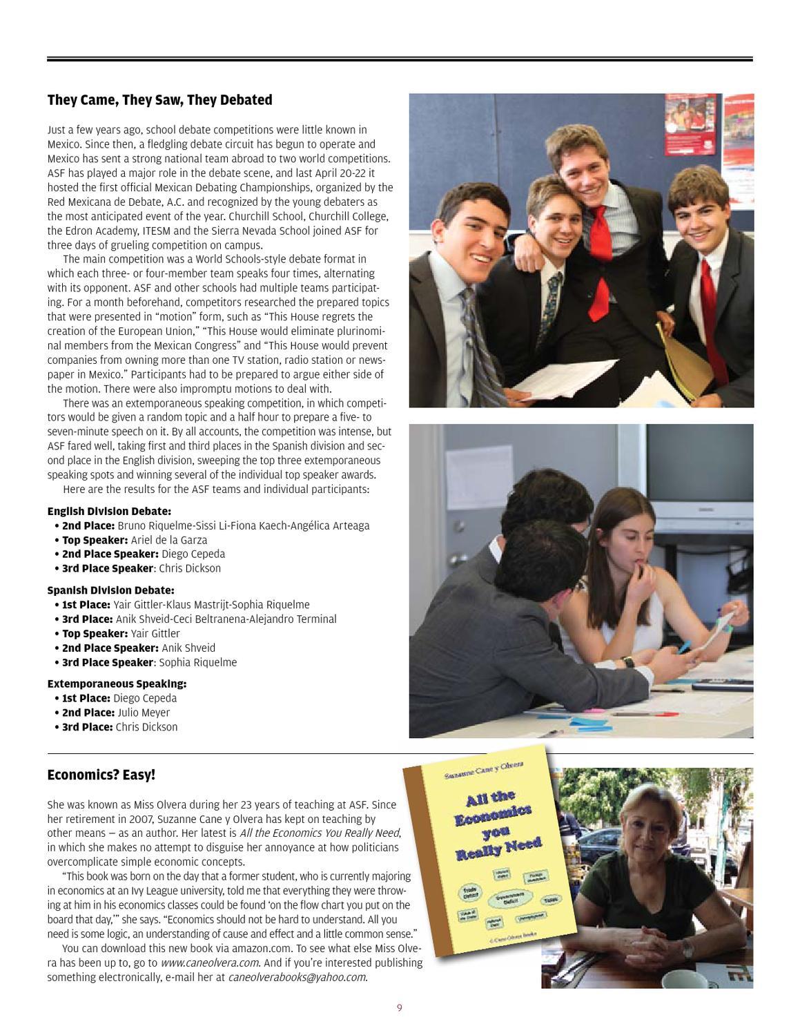 Angelica Cepeda focus summer/fall 2012the american school foundation