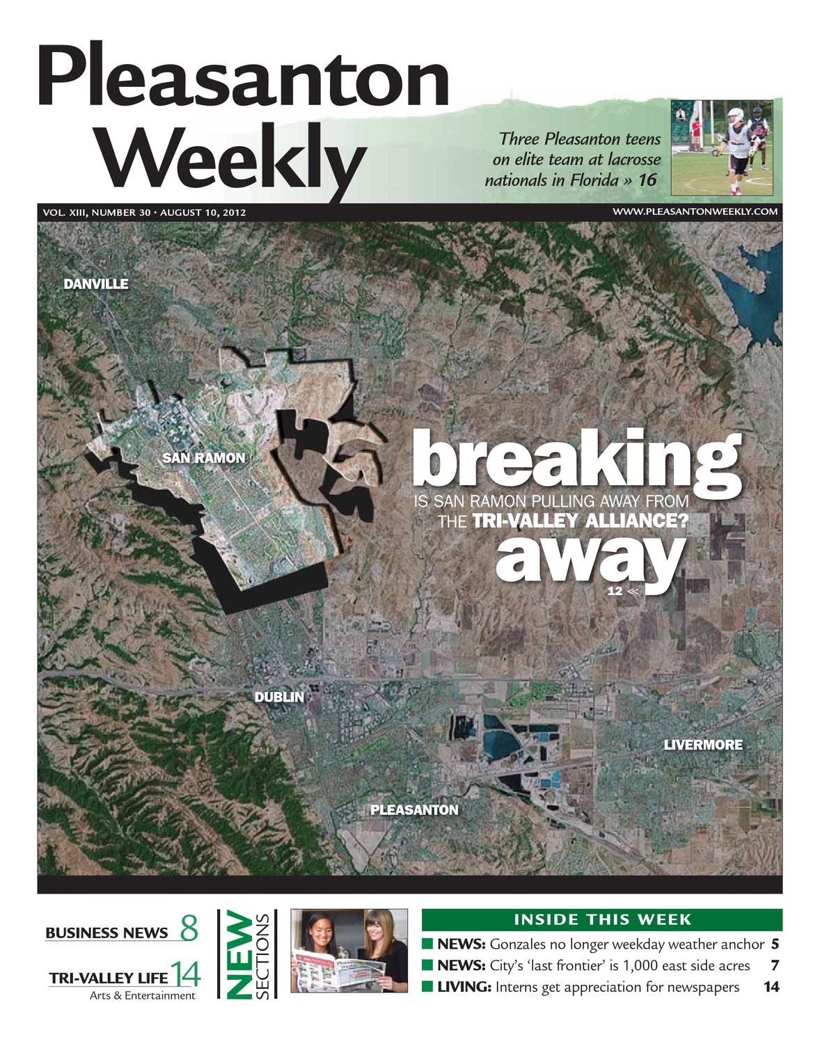 Pleasanton Weekly 08 10 2012 - Section 1 by Pleasanton