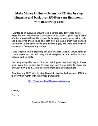 Make money online get my free step by step blueprint and bank over make money online get my free step by step blueprint and bank over 5000 in your first month with no start up costs i wanted to let everyone know theres malvernweather Choice Image