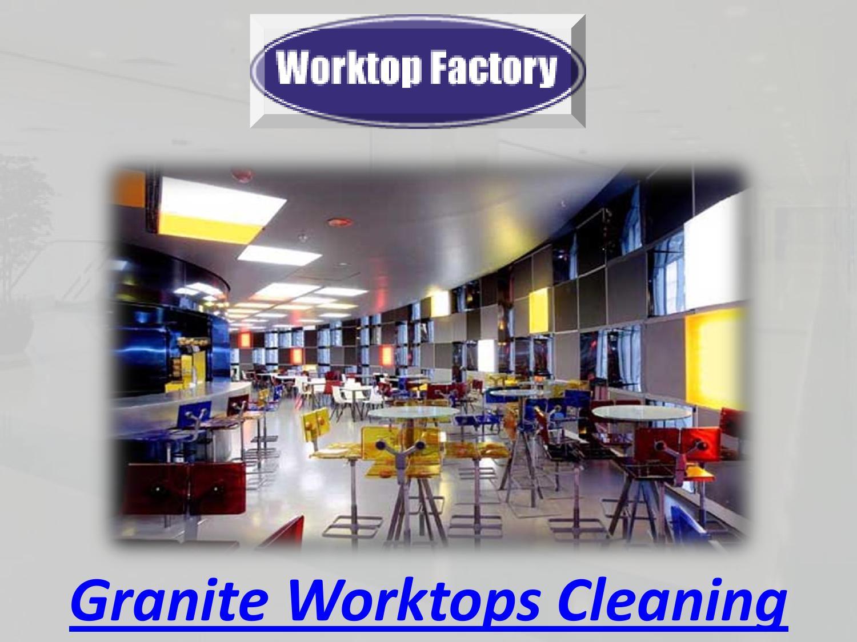 how to clean granite worktops