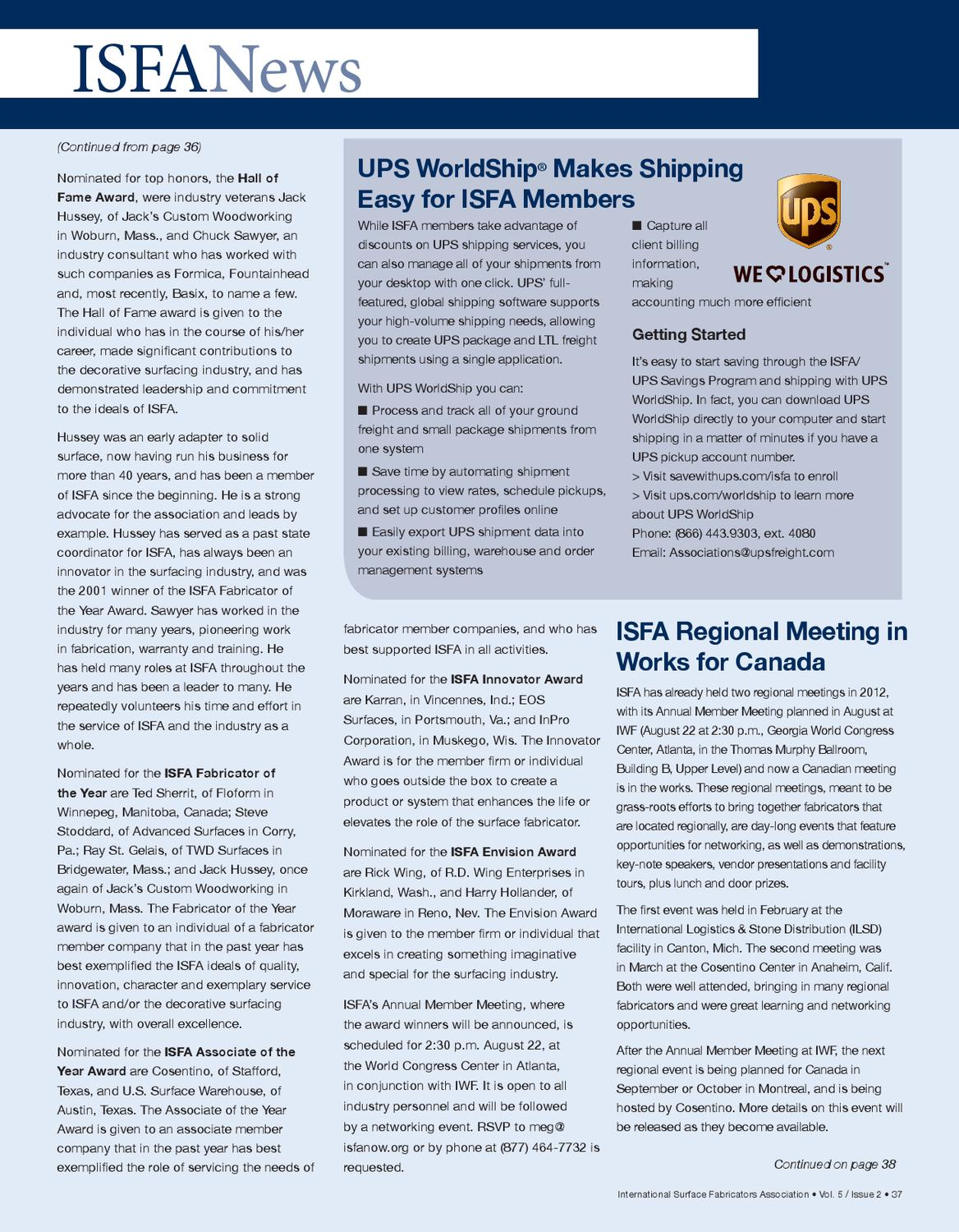 ISFA Countertops & Architectural Surfaces, Vol  5, Issue 2 by ISFA