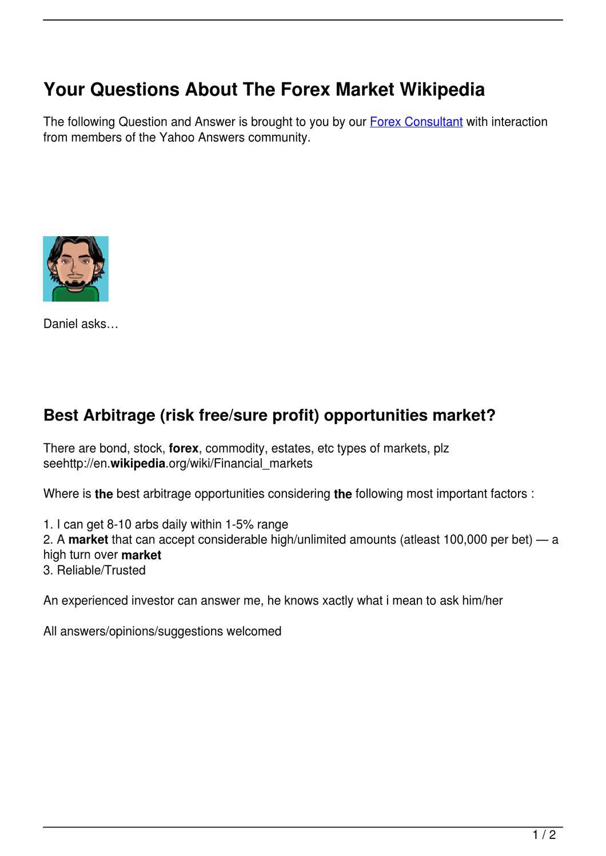 Forex market wikipedia