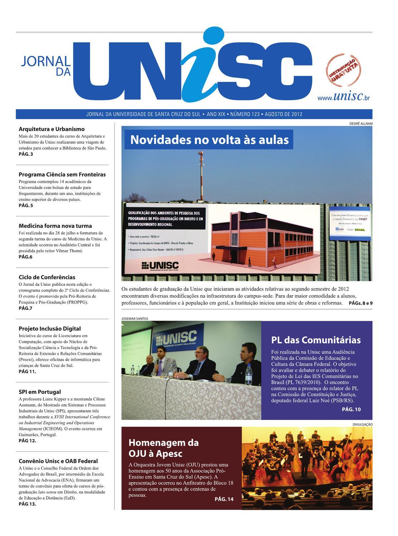e722e207d2 Jornal da Unisc 123 by UNISC Santa Cruz do Sul - issuu
